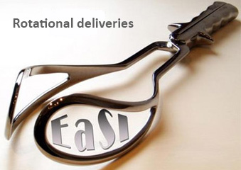 Image showing medical equipment with the words 'EaSI' and 'Rotational deliveries'.