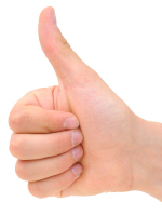 Image of thumbs up sign