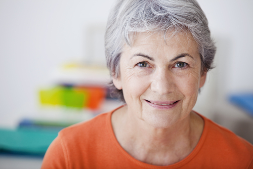Photograph of sixty year old woman