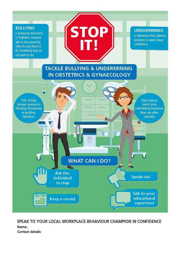 Workplace behaviour champion poster